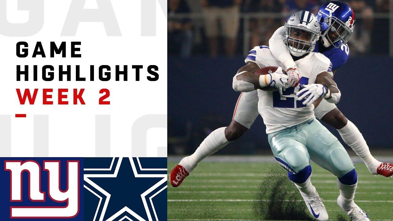 42cb930f22f Giants vs. Cowboys Week 2 Highlights