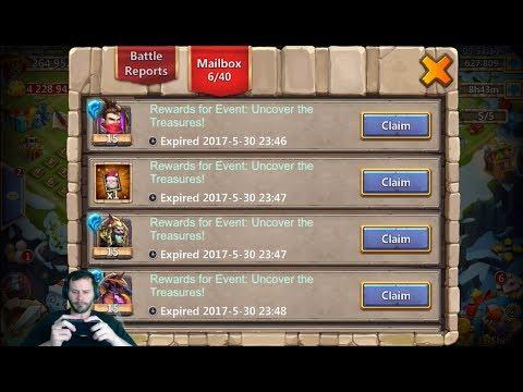 JT's Main 12 Heroes From Uncover The Treasure  + Bingo Blast Card Castle Clash