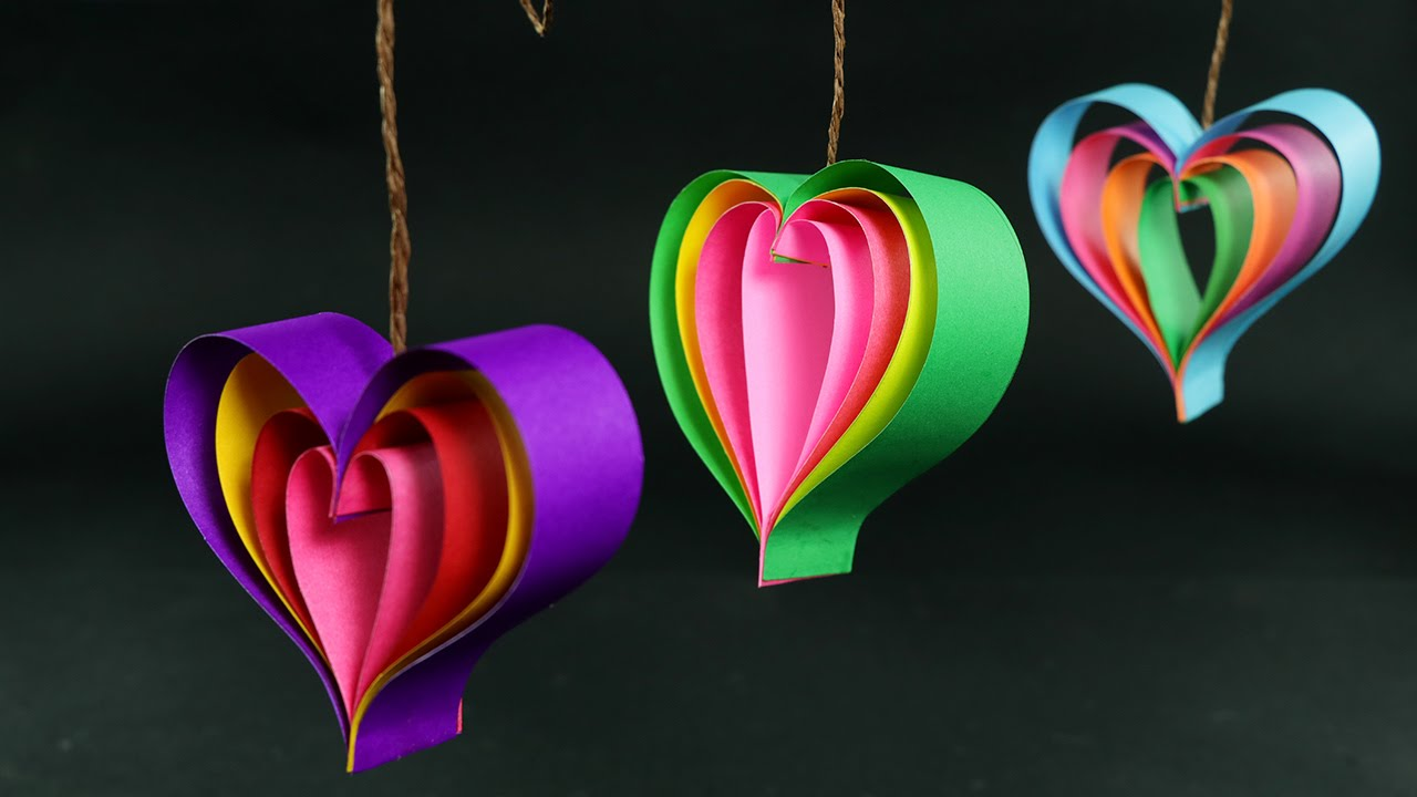 How To Make Paper Hearts Quick And Easy DIY Crafts Tutorial