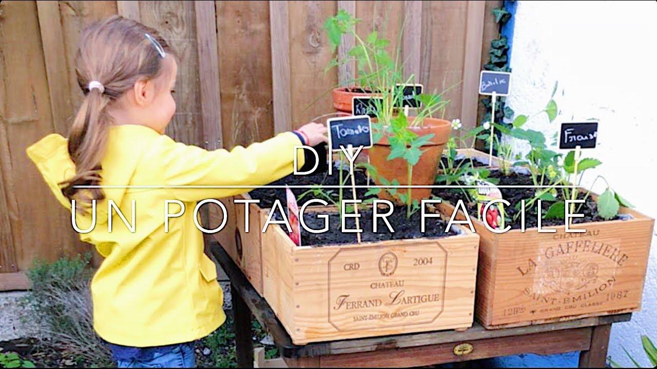 Planter Dans Une Caisse En Bois ♡ diy, un potager facile en recyclant des caisses de vin ♡