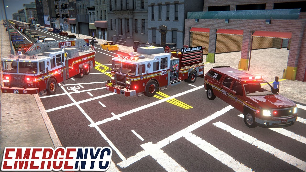 EmergeNYC New Brooklyn Map & Major Gameplay Updates - Engine 234, Ladder 123 & Battalion Chief 38