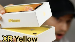 Yellow iPhone XR Unboxing & Comparison - iPhone XR VS iPhone XS