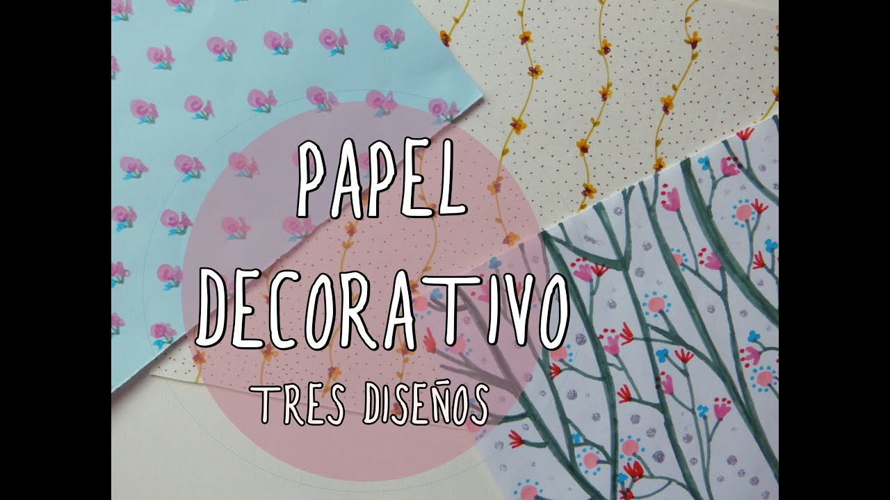 Papel decorativo con estampado de flores muy f cil youtube for Papel autoadhesivo decorativo