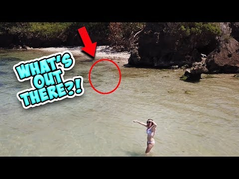 SWIMMING IN A SUPER SECRET BEACH!
