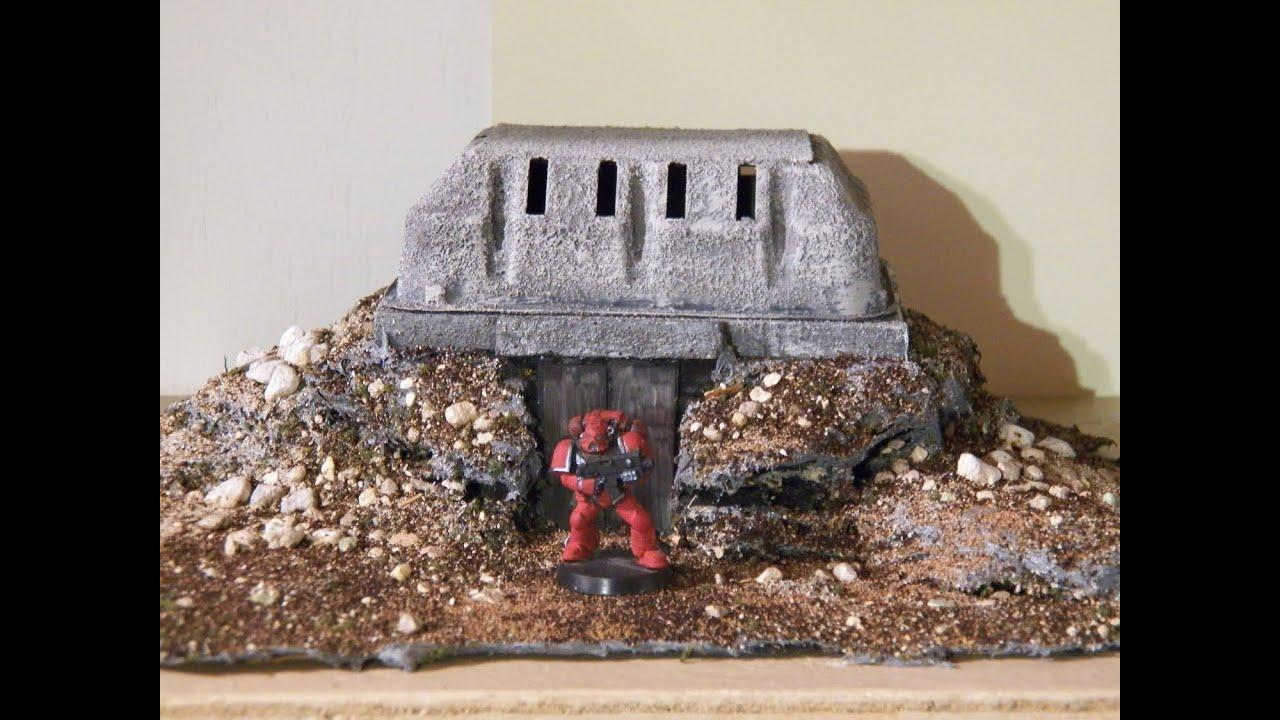 Miniature Terrain Tutorial: Warhammer 40k Bunker part 2