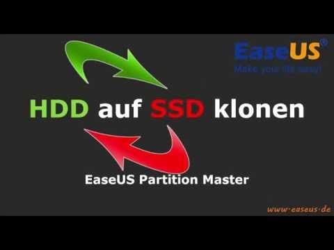 EaseUS Partition Master - HDD Auf SSD Klonen