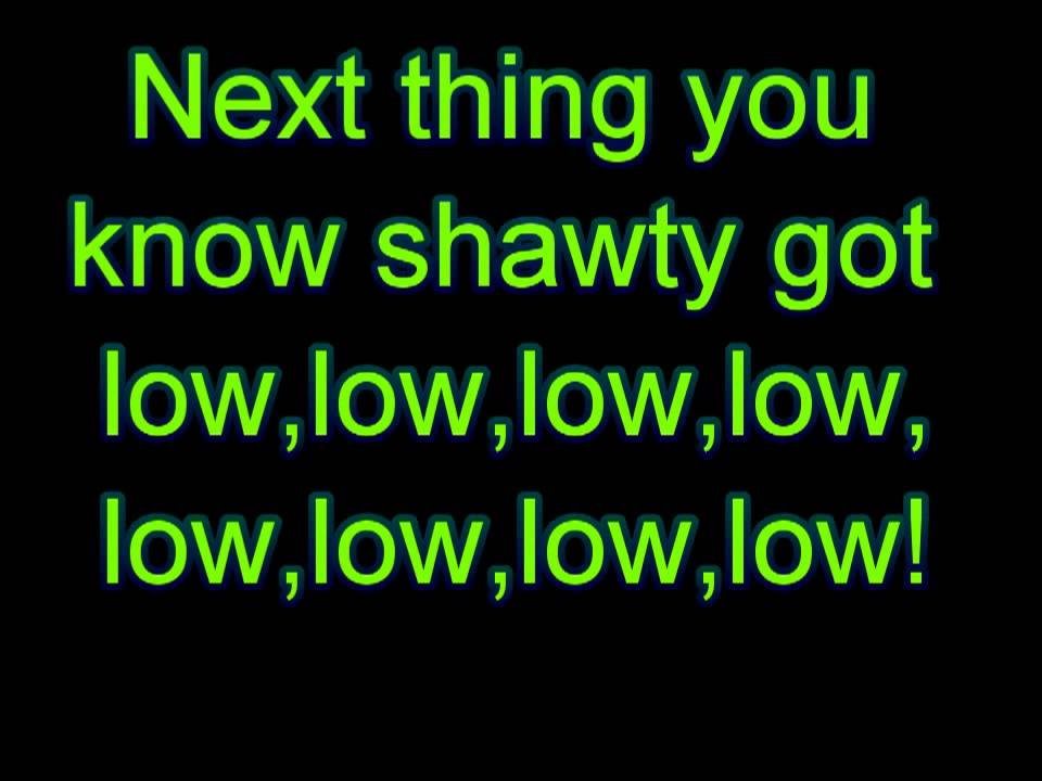 Apple Bottom Jeans Lyrics Low HD YouTube - YouTube