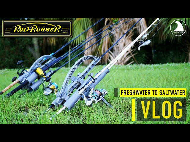 Fishing FRESHWATER & SALTWATER Same Day with SlackTide and ROD-RUNNERS! (Fishing Vlog)