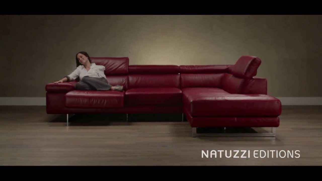 Sofa with sliding chaise and ratchet headrests B619 Natuzzi Editions Chaise Longue Youtube on chaise sofa sleeper, chaise recliner chair, chaise furniture,
