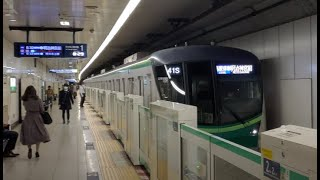 4k60p 東京メトロ千代田線 根津駅到着シーン 明治神宮前行き
