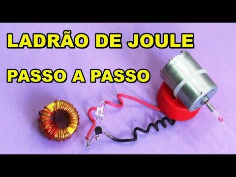 GERADOR EÓLICO COM LADRÃO DE JOULE PASSO A PASSO