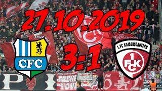 Chemnitzer FC 3:1 1. FC Kaiserslautern - 27.10.2019 - Same procedure as every Spieltag...