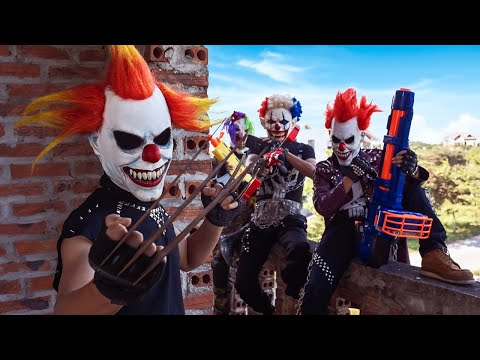 Loka Nerf Guns : Squad Delta Nerf Guns Fight Dr.Crazy Crime Group Mask Ep 8
