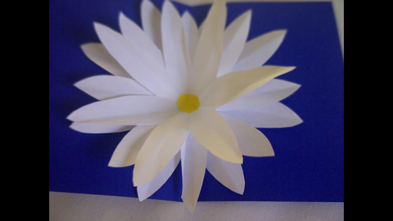 Basteln lernen Blumen PopUp Karte Bastelidee für Muttertag