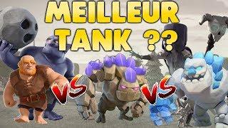 Clash of Clans - Quel est le MEILLEUR TANK ? GEANT ? GOLEM ? GOLEM GLACE ?