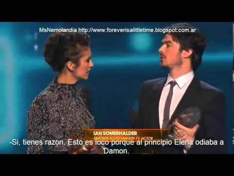 Ian Somerhalder & Nina Dobrev People's Choice Awards 2014 - Sub Español