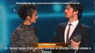 ian somerhalder nina dobrev people s choice awards 2014 sub espaol