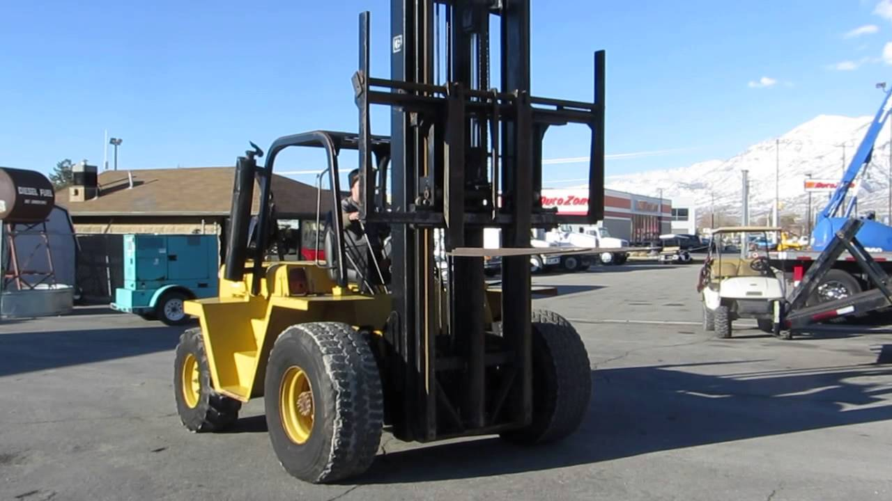 SOLD Forklift CAT R80 8,000 LB 30' Diesel Towable with Hitch FOR SALE  $10,800