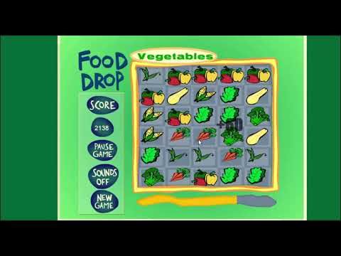 Food Drop Game Puzzle Nutrition And Brain Game