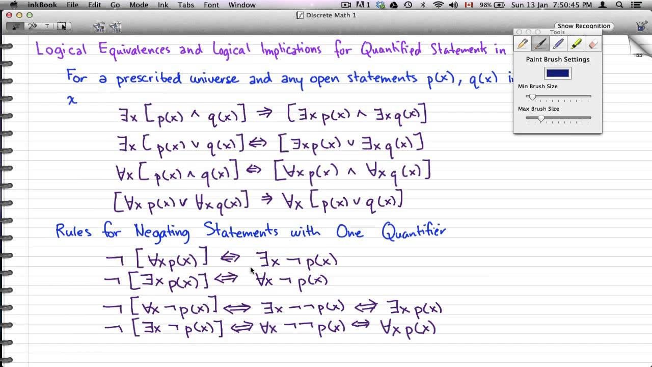 discrete math 1 - tutorial 41 - quantifiers, negation and examples