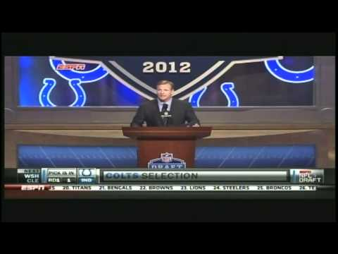 Andrew Luck Gets Drafted 2012