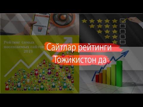 Сайтлар рейтинги ТОЖИКИСТОН да | Рейтинг сайтов в Таджикистан