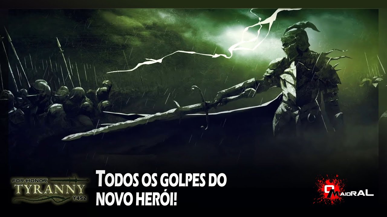 FOR HONOR - Novo Herói - Todos Os Golpes E Showcase Das Armaduras!