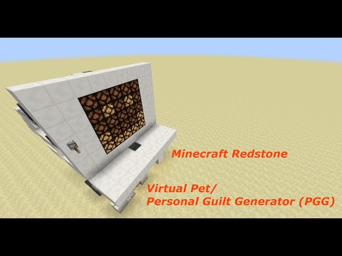 Minecraft Redstone Tutorial, Virtual Pet