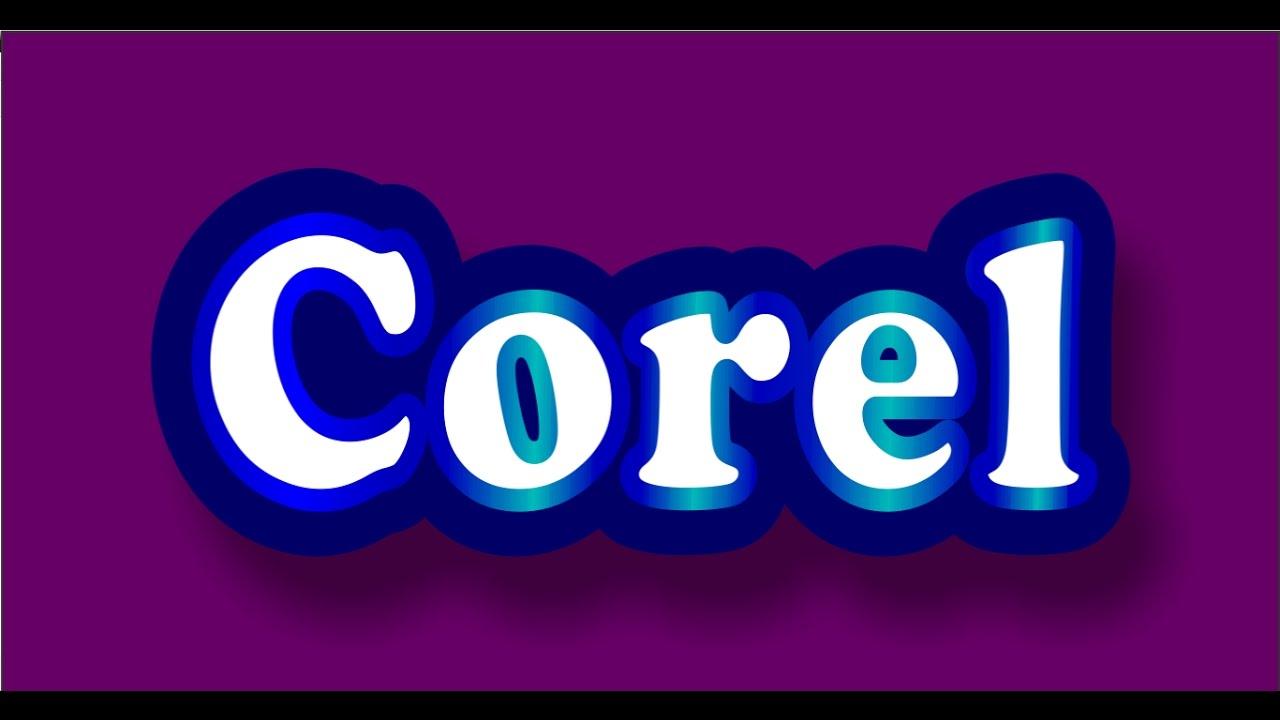 Coreldraw vector graphics - Text Effects In Coreldraw Corel Tutorials Vector Graphics