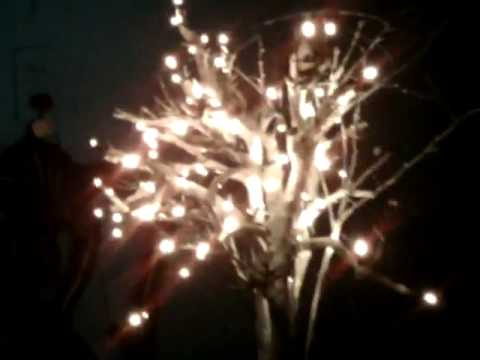 Idea para hacer un arbol decorativo con luces led youtube - Luces para arboles ...
