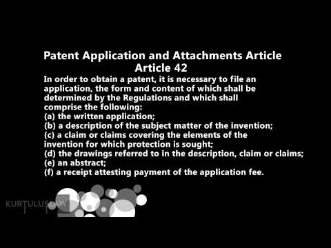 Intellectual Property Law in Turkey, PART 1, Protection of Patent Rights