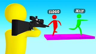 SNIPERS VS STICK FIGURE Runners! (Super Smash)