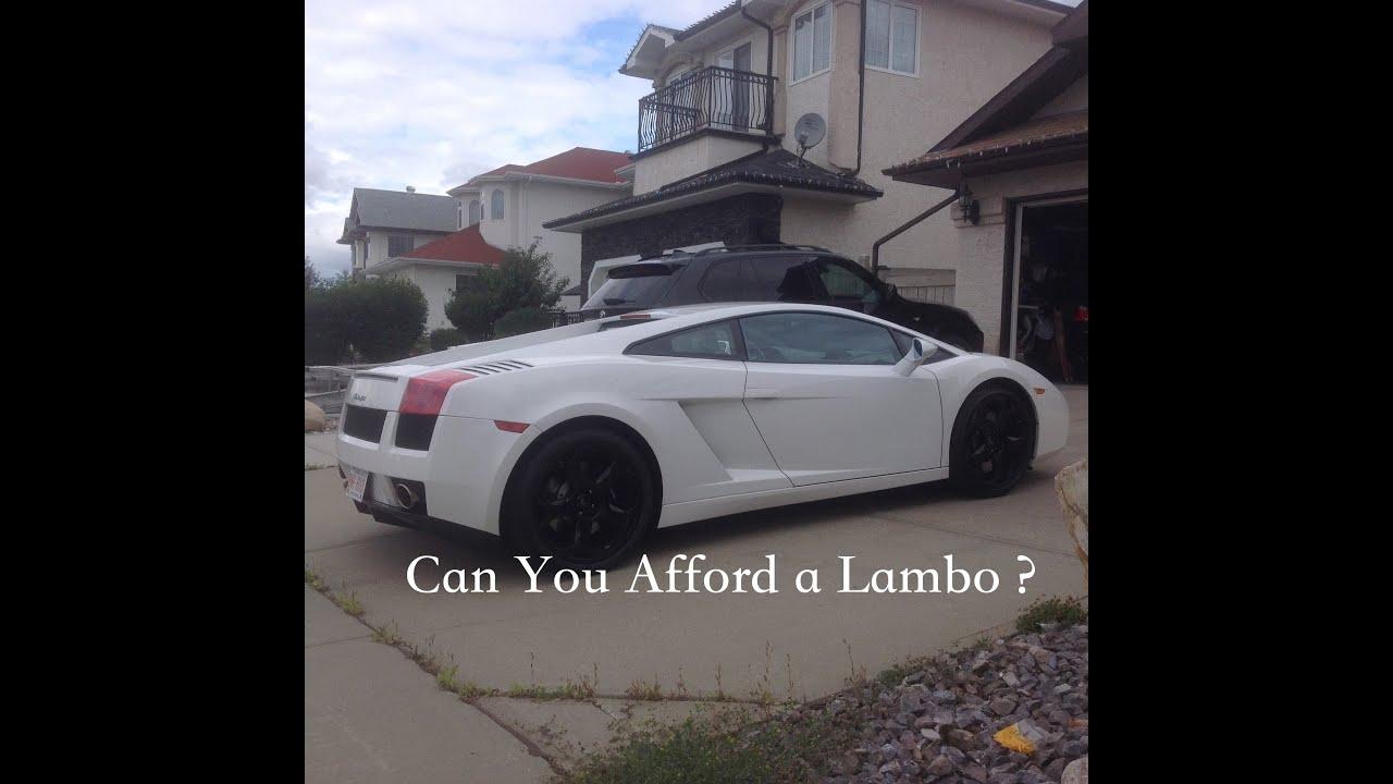 How to afford a lamborghini