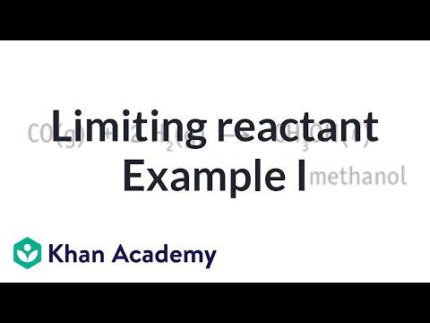 Limiting reactant example problem 1 | Chemistry | Khan Academy