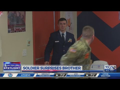 Soldier Surprises Brother