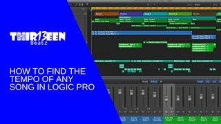 HOW TO FIND THE TEMPO OF ANY SONG IN LOGIC PRO   TUTORIAL