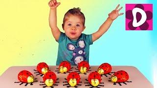 ✿ Яйца СЮРПРИЗ и Игрушки. Распаковка Божьи Коровки с Сюрпризом от Диана Шоу. Unboxing surprise Toys(Всем Салют! Сегодня Диана открывает необычные Яйца Сюрприз в виде Божьей Коровки. Нам попализь забавные..., 2016-02-21T09:29:02.000Z)