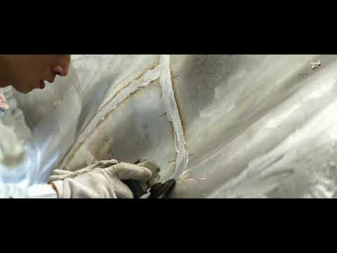 super mirror polish process of stainless steel sculpture by hand