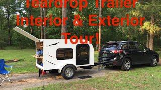 Teardrop Trailer Tour - Interior & Exterior - Tiny House!