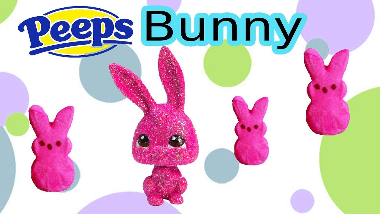 Diy Custom Lps Easter Sugar Marshmallow Peeps Bunny Chocolate Glitter Candy  Littlest Pet Shop Craft  Youtube