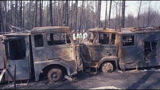 Groźny Pożar Lasu w Kuźni Raciborskiej - 26.08.1992