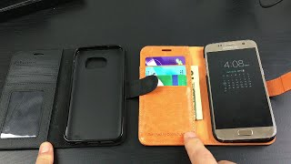 2016 best inexpensive leather wallet case for samsung galaxy s7