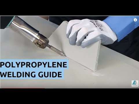 How to Welding Plastic PP polypropylene - video tutorial