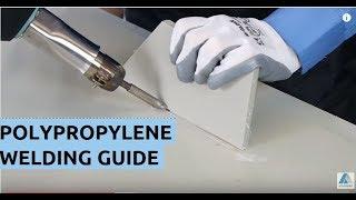 How to Welding Plastic PP polypropylene - video tutorial