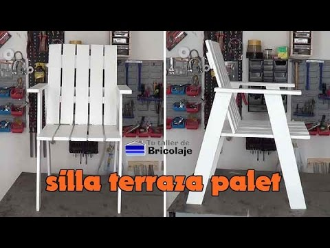 C mo hacer unas sillas de terraza con madera de palet - Sillas con palets ...