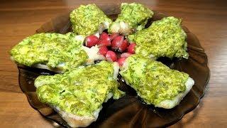 Минтай под зеленым соусом в духовке. Нежный рецепт