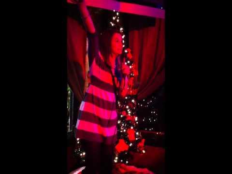 Whitney sings a little karaoke