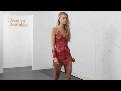For Love & Lemons Antigua Mini Dress In Red