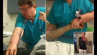 California ER doctor is suspend after seen on video mocking a patient and yanking his arm