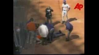 VIDEO: MLB Umpire John McSherry Suffers Massive Heart Attack (April 1, 1996) thumbnail